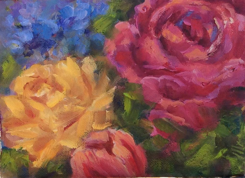 """floral Medley I"" original fine art by Susie Monzingo"