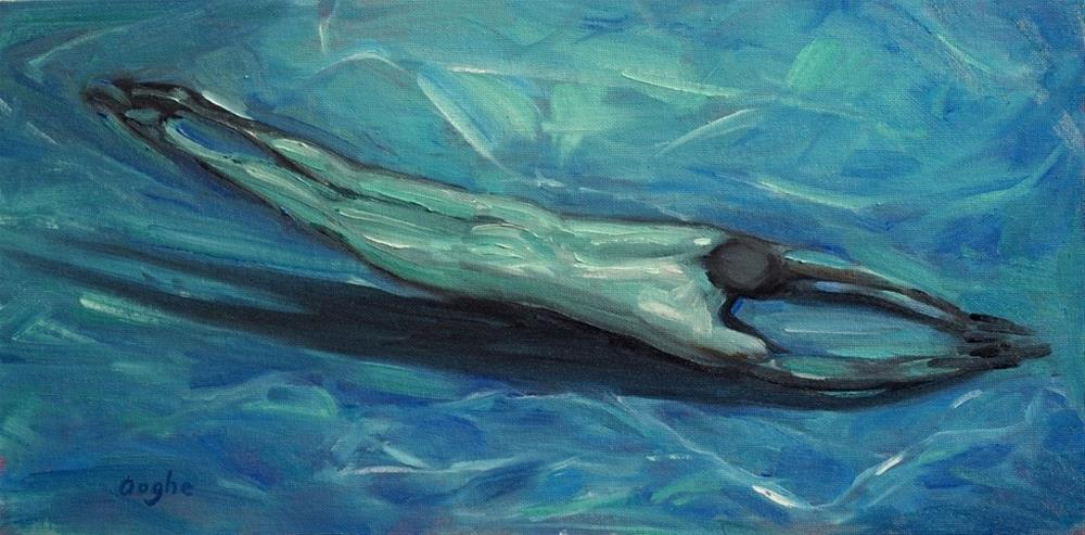 """Deep Swim"" original fine art by Angela Ooghe"