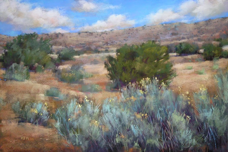 """The Best Pastel Set for Painting the Landscape of the Southwest"" original fine art by Karen Margulis"