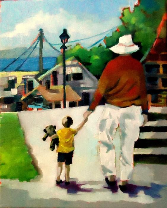 """""""Grandpa"""" original fine art by Laurie Mueller"""