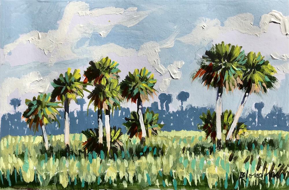 """""""Summer Palms"""" original fine art by Linda Blondheim"""