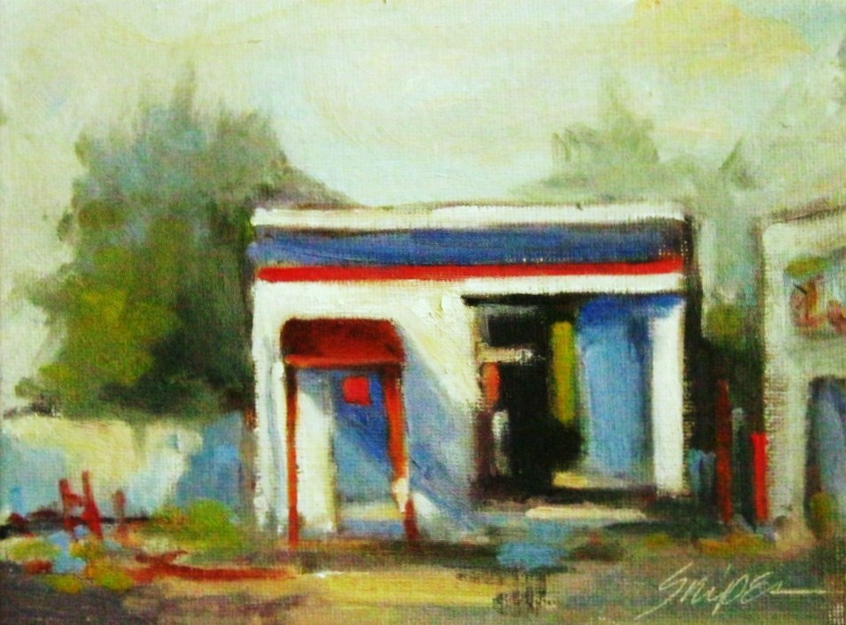 """Once Busy"" original fine art by Connie Snipes"