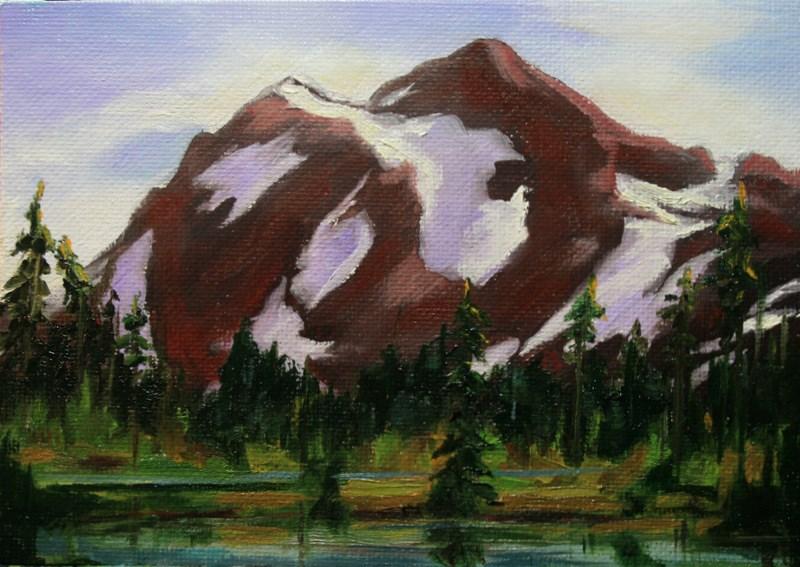 """""""Mt. Shuksan"""" original fine art by Jean Nelson"""