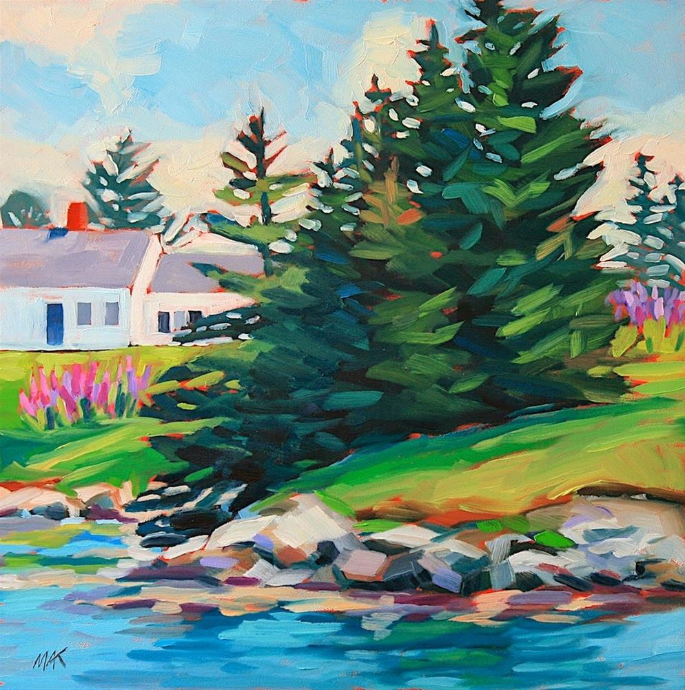 """""""House by the Sea"""" original fine art by Mary Anne Cary"""