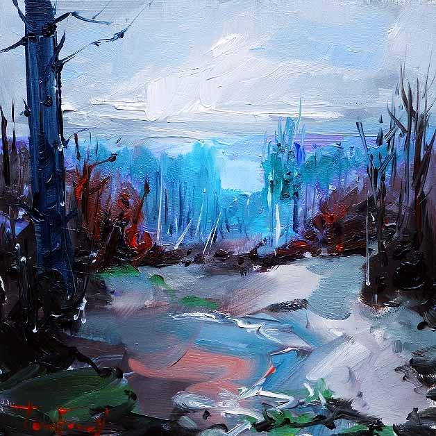 """""""Heute im Wald"""" original fine art by Jurij Frey"""