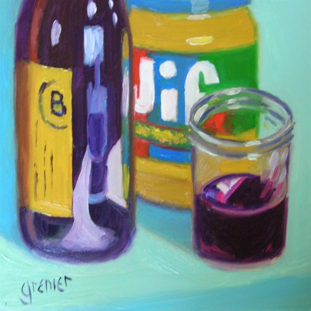 """Red Wine and Peanut Butter"" original fine art by jean grenier"