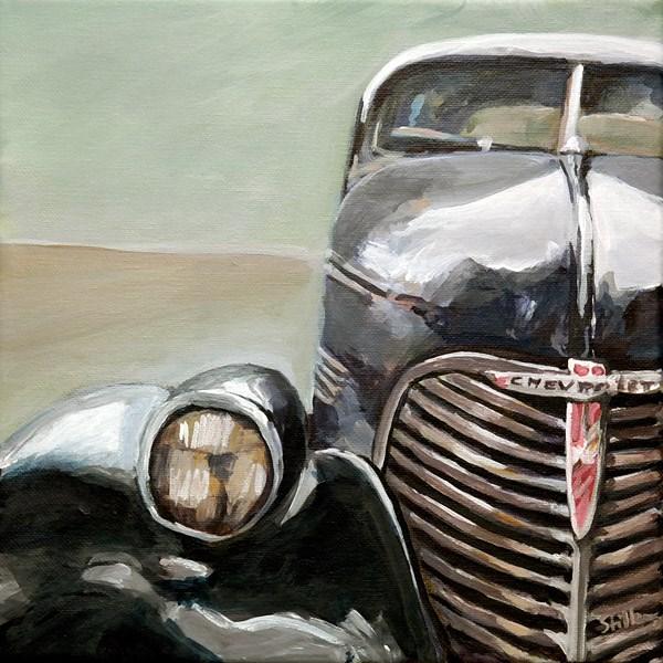 """""""1188 Old Chevy"""" original fine art by Dietmar Stiller"""