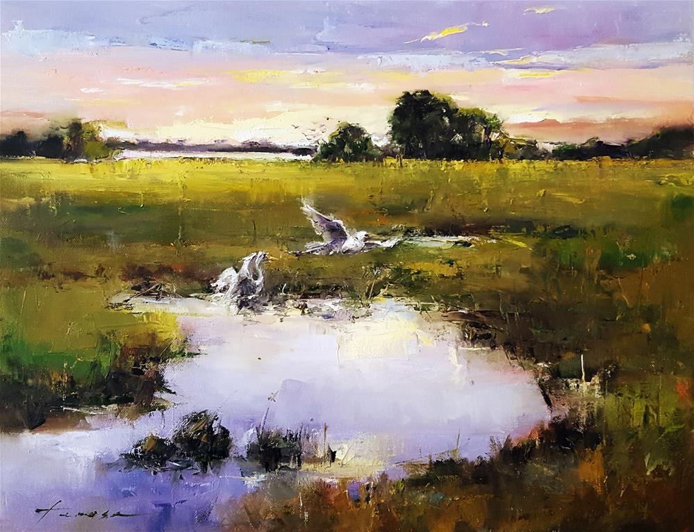 """marsh02"" original fine art by Teresa Yoo"