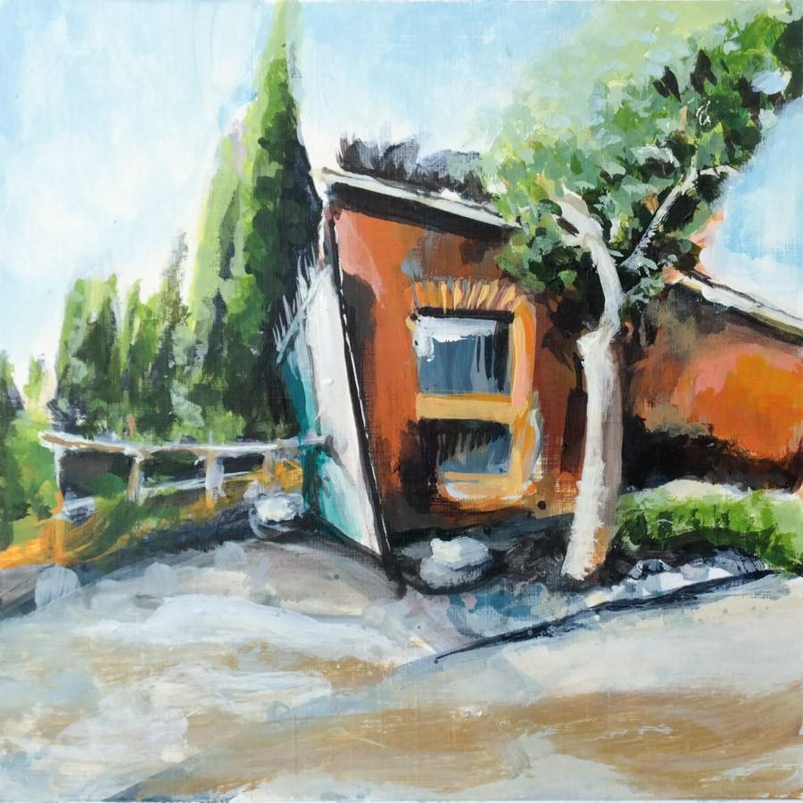 """""""2866 Bernardi Gate"""" original fine art by Dietmar Stiller"""