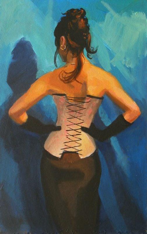 """Dressed back"" original fine art by Peter Orrock"