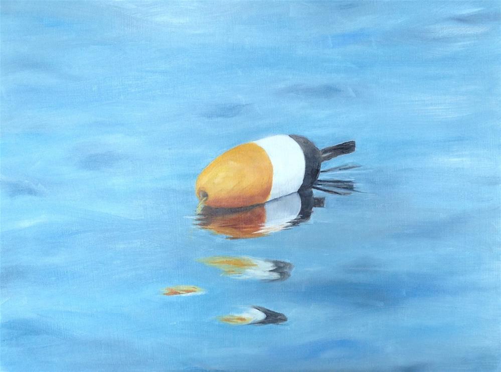 """Buoy, calm water"" original fine art by Karen Collins"