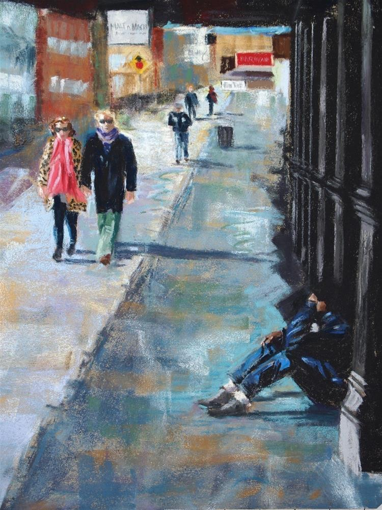 """""""NY Meatpacking District"""" original fine art by Michelle Wells Grant"""