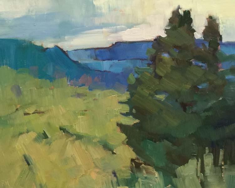 """Ridgeline Vista"" original fine art by Patti McNutt"