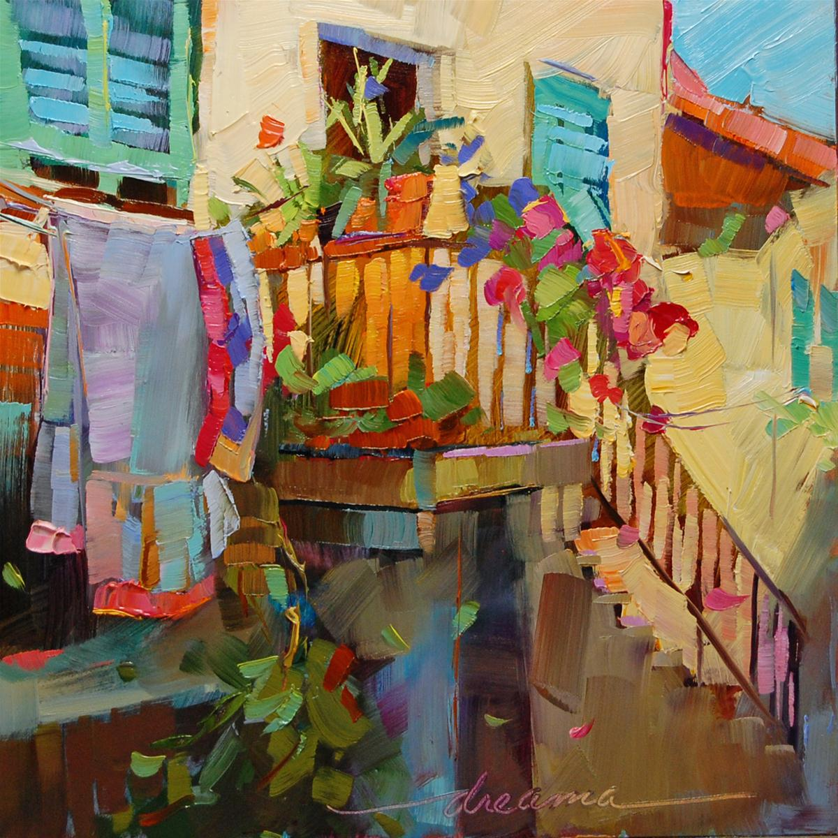 """""""The Art of Laundry"""" original fine art by Dreama Tolle Perry"""