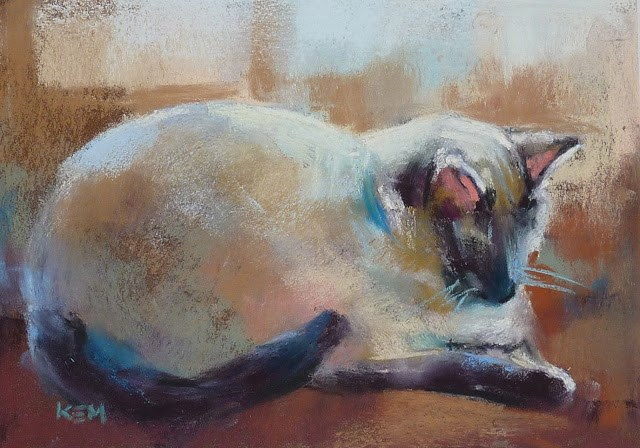 """""""Introducing My First Pastel Lesson Download....How to Paint Animals"""" original fine art by Karen Margulis"""