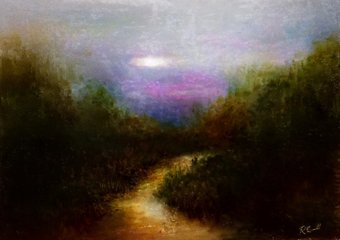 """""""Secluded Path"""" original fine art by Bob Kimball"""