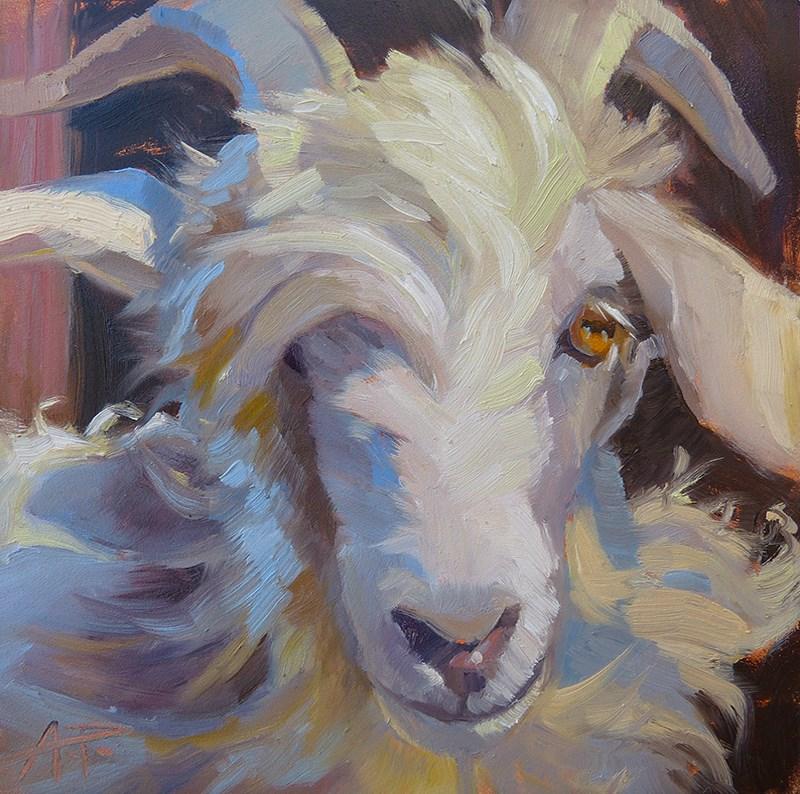 """Goat Charm"" original fine art by Anette Power"