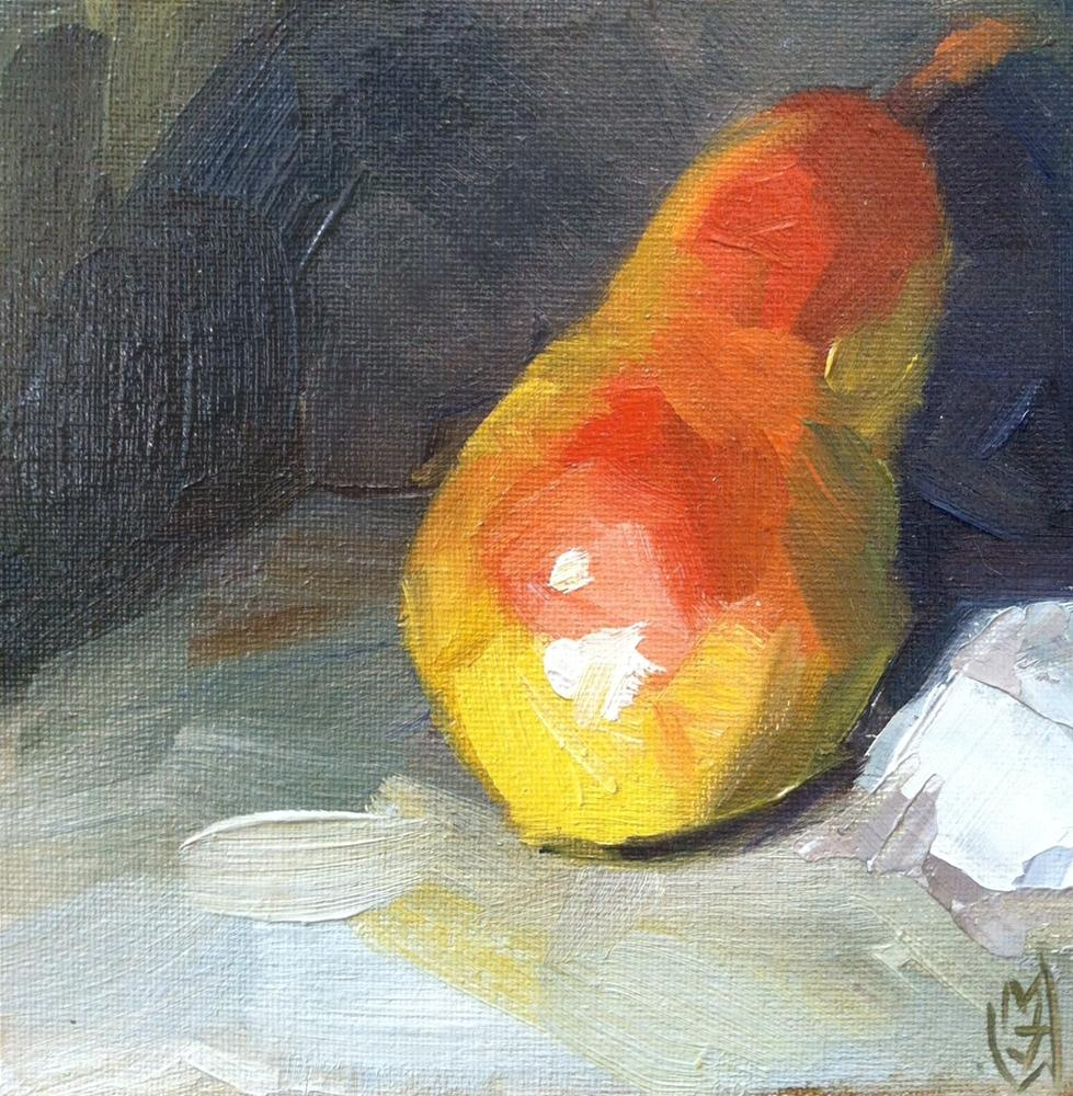 """Leaning Pear"" original fine art by Michael Williamson"
