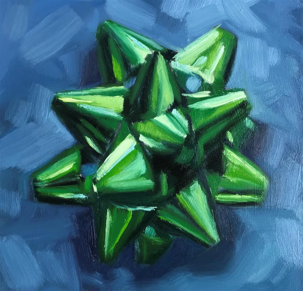 """Christmas Bow"" original fine art by Sharon Schock"