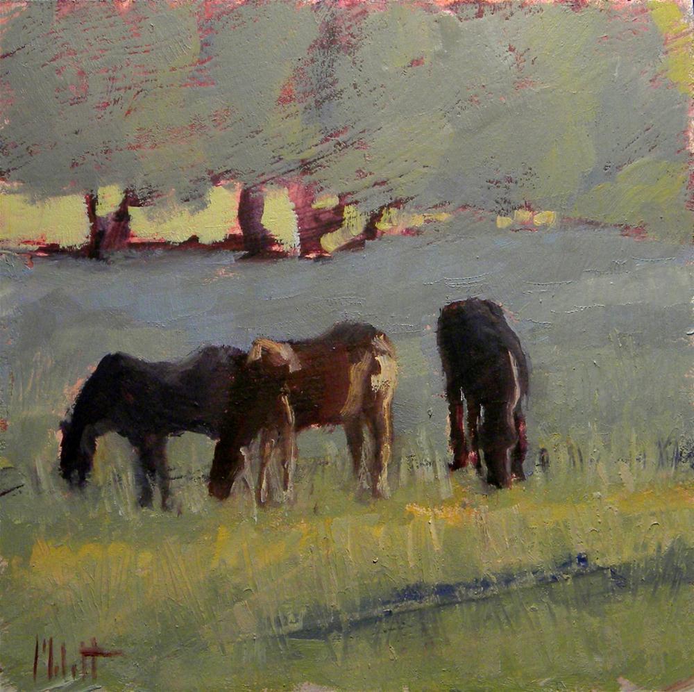 """Horse Painting Original Art Farm Ranch Landscape"" original fine art by Heidi Malott"