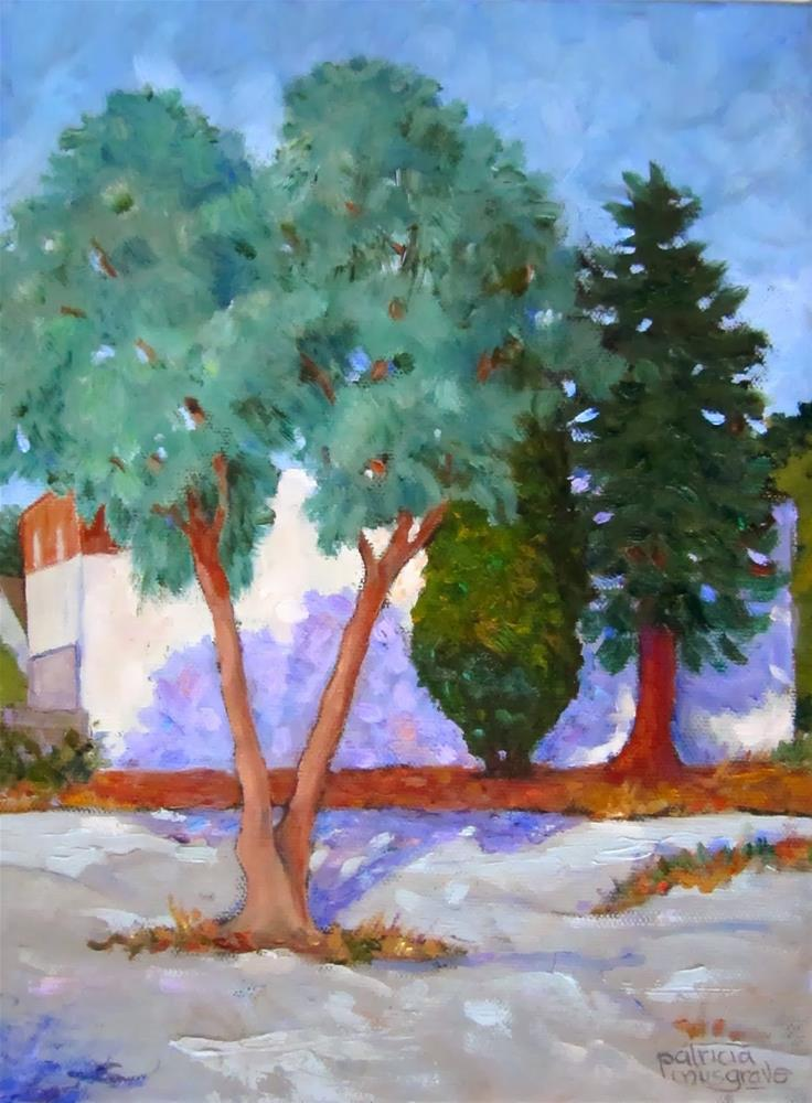 """Here for Now  -  El Camino Real, Mountain View, CA"" original fine art by Patricia Musgrave"