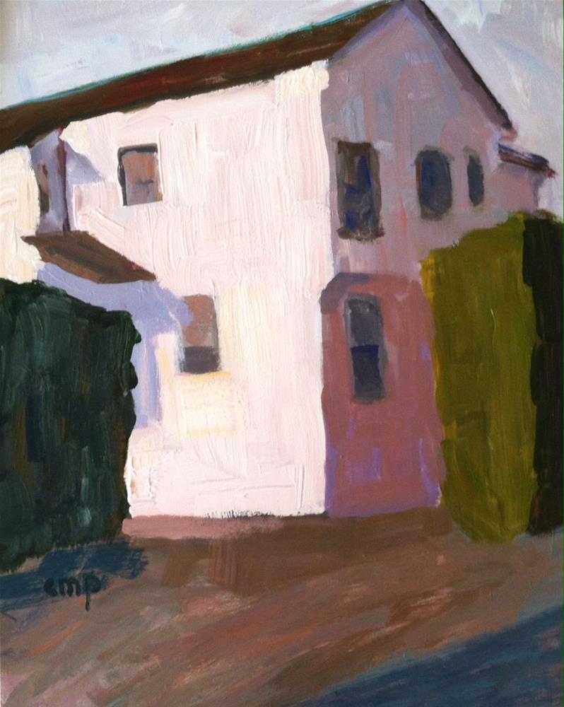 """Santa Barbara House"" original fine art by Christine Parker"