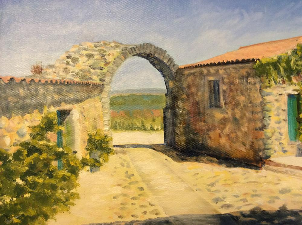 """Archway in Castelo Rodrigo"" original fine art by Kathy Marques"