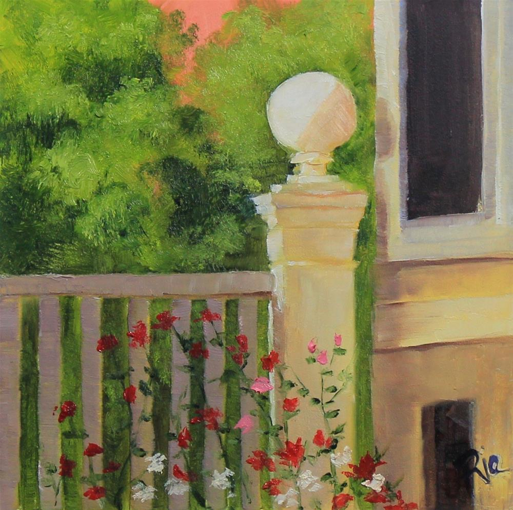 """""""Moments in Italy - Rose Garden"""" original fine art by Maria Reed"""