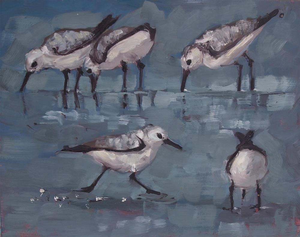 """""""Little birds"""" original fine art by Rick Nilson"""