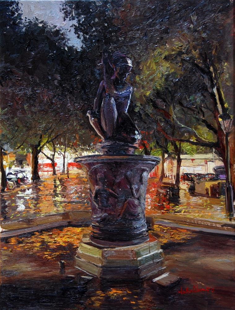"""The Nocturne, Sloane Square"" original fine art by Adebanji Alade"