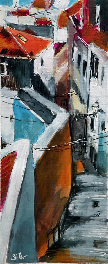"""""""2449 Way to the Tejo"""" original fine art by Dietmar Stiller"""