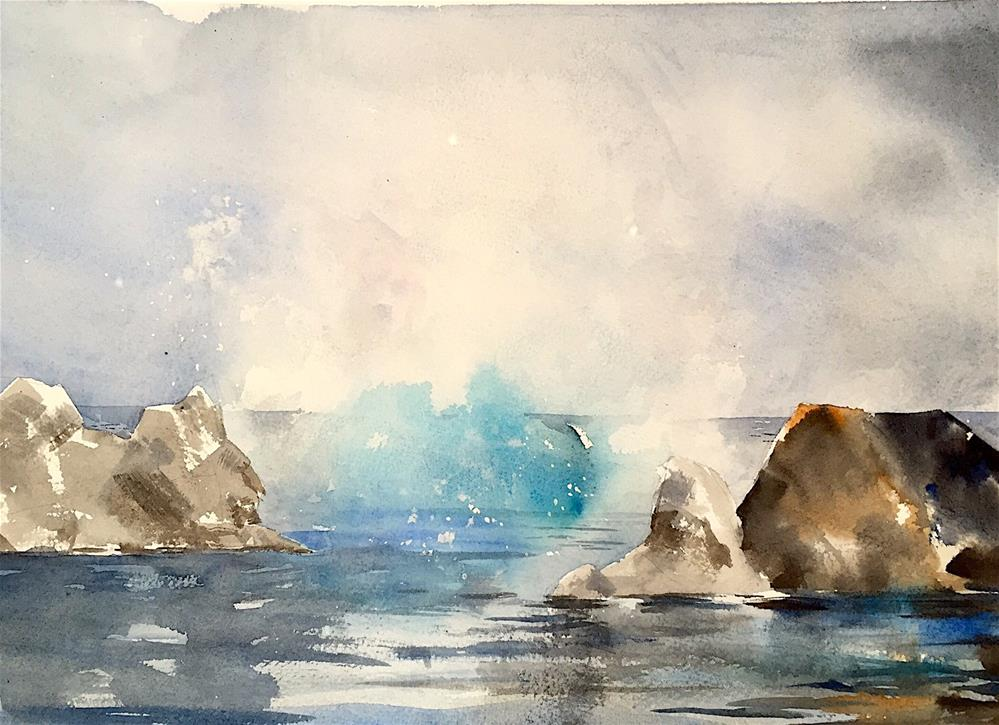 """Blue Lagoon, Iceland"" original fine art by Judith Freeman Clark"