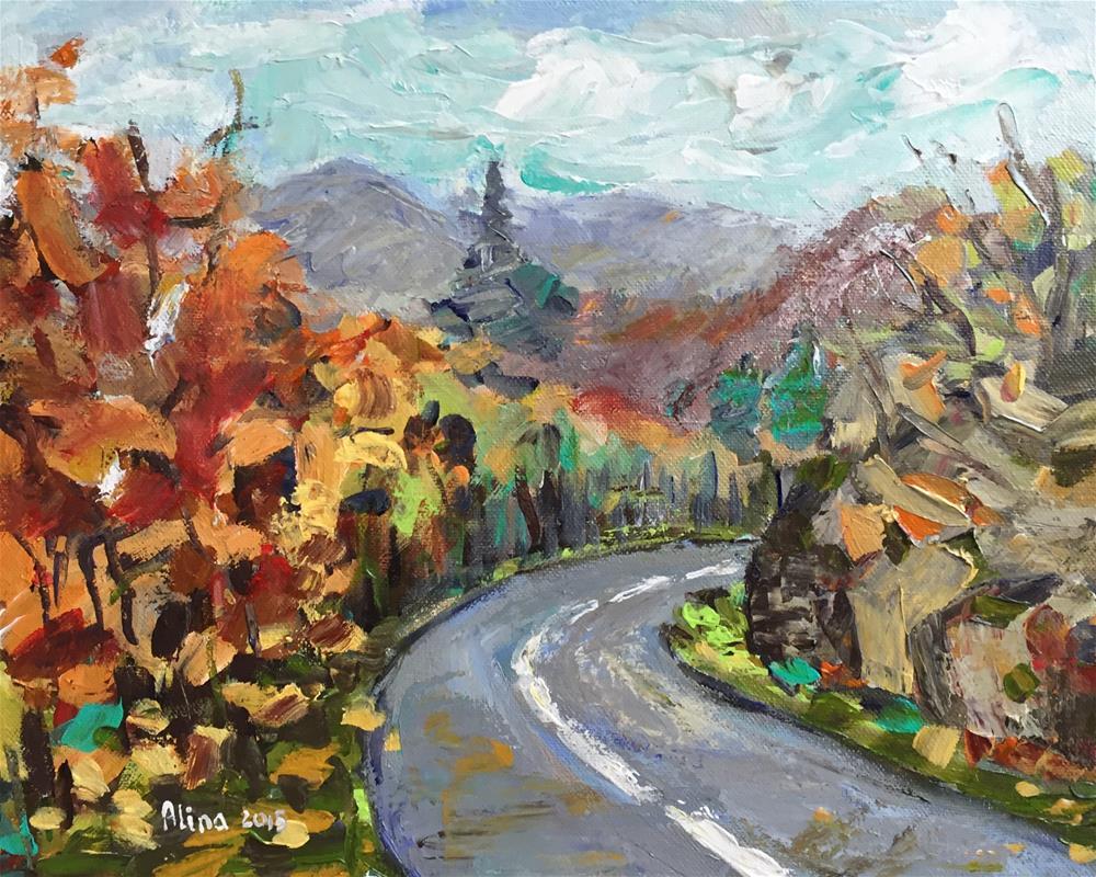 """""""Mountain Road"""" original fine art by Alina Vidulescu"""