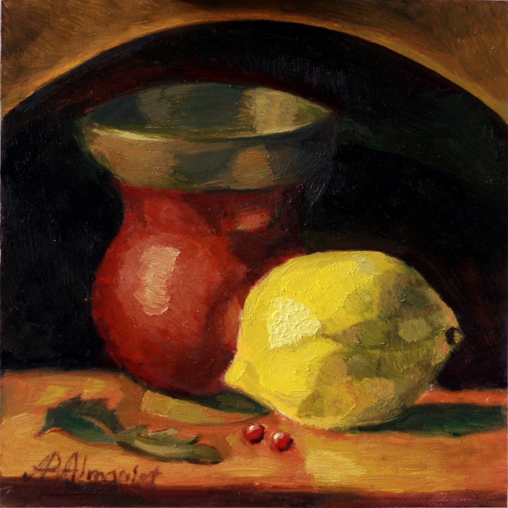 """Brass and Lemon"" original fine art by Adriana B. Almquist"