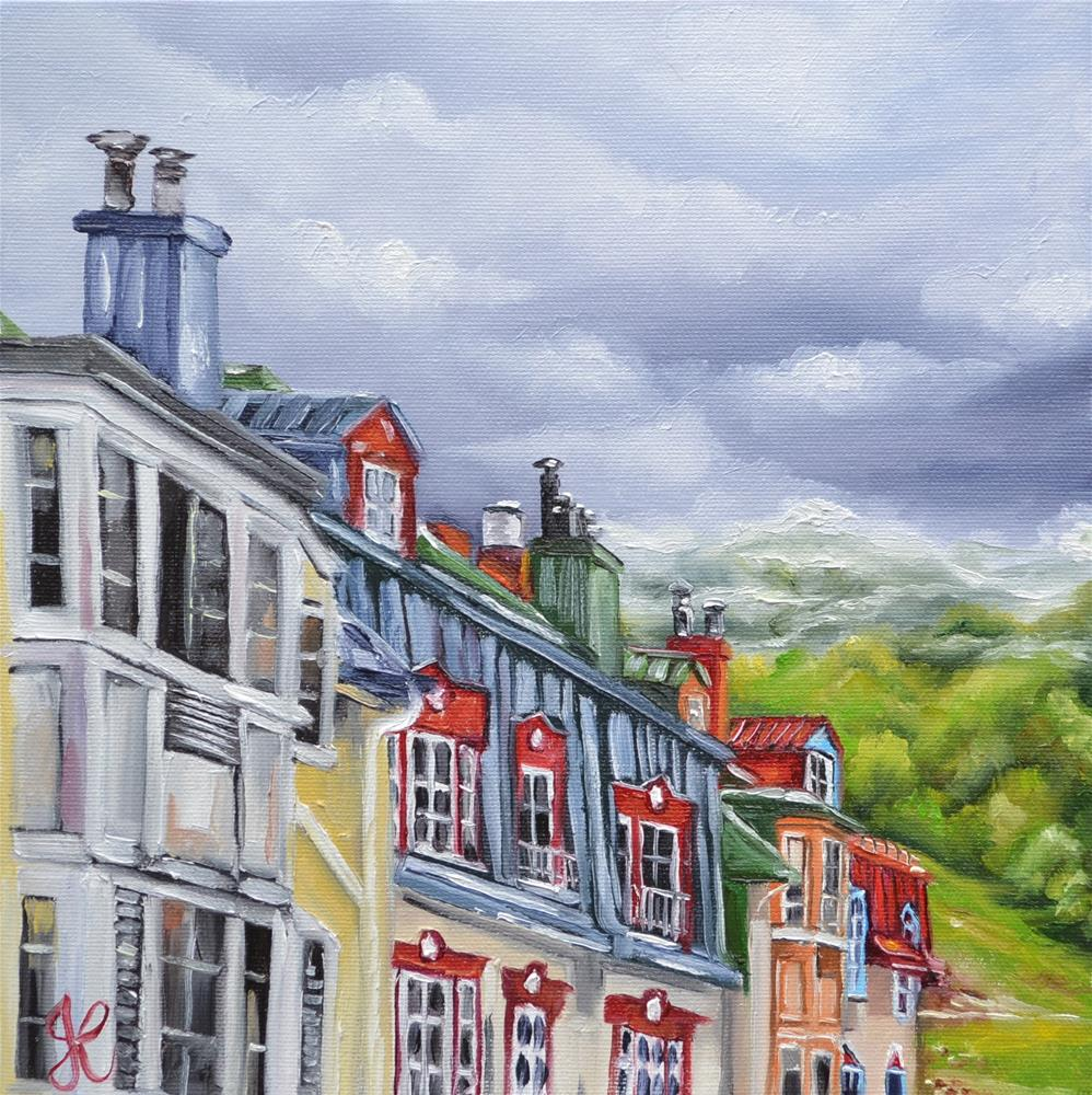 """""""Mont-Tremblant view from room 208"""" original fine art by Jacinthe Rivard"""