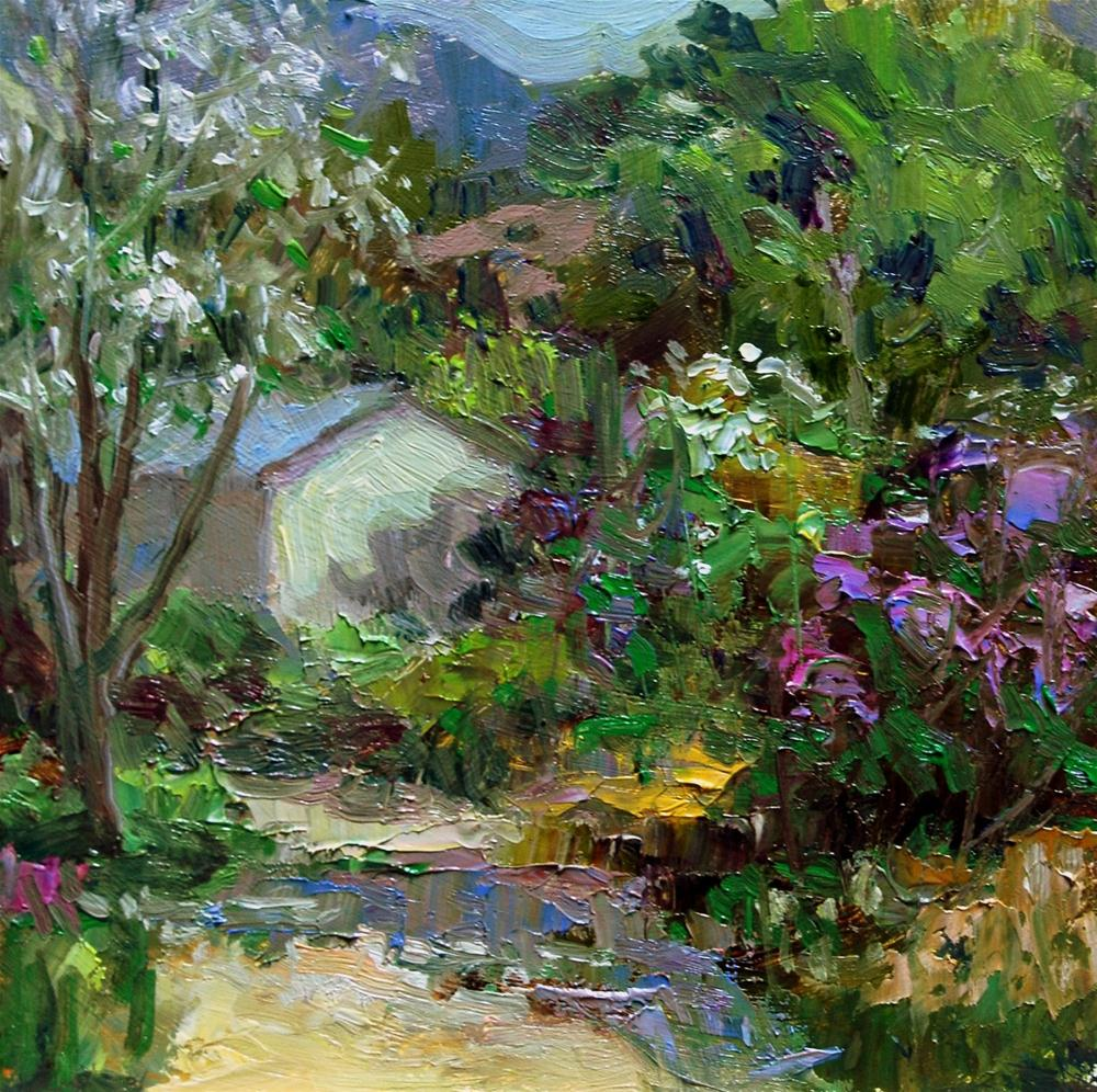 """Spring at Nichols Ranch and Orchards"" original fine art by Julie Ford Oliver"