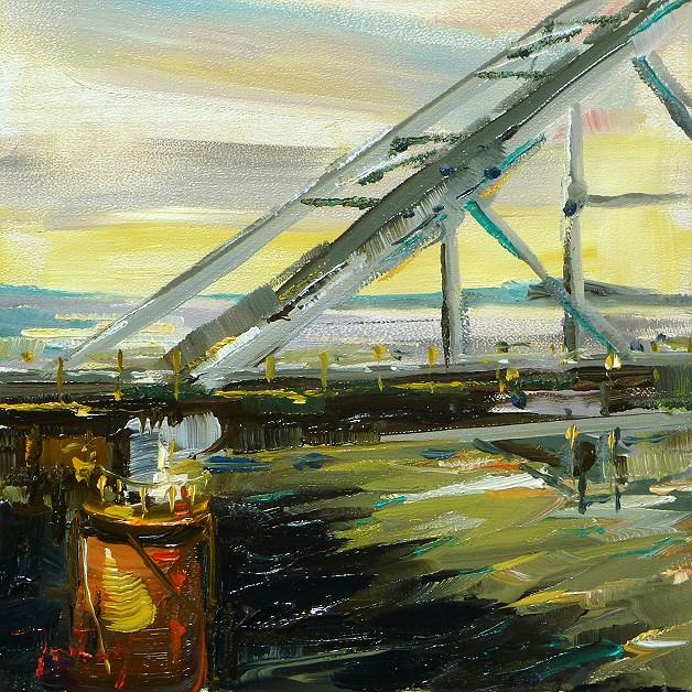"""""""The longest river in Europe"""" original fine art by Jurij Frey"""