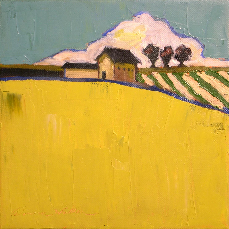 """""""Striped Fields II"""" original fine art by Donna Walker"""