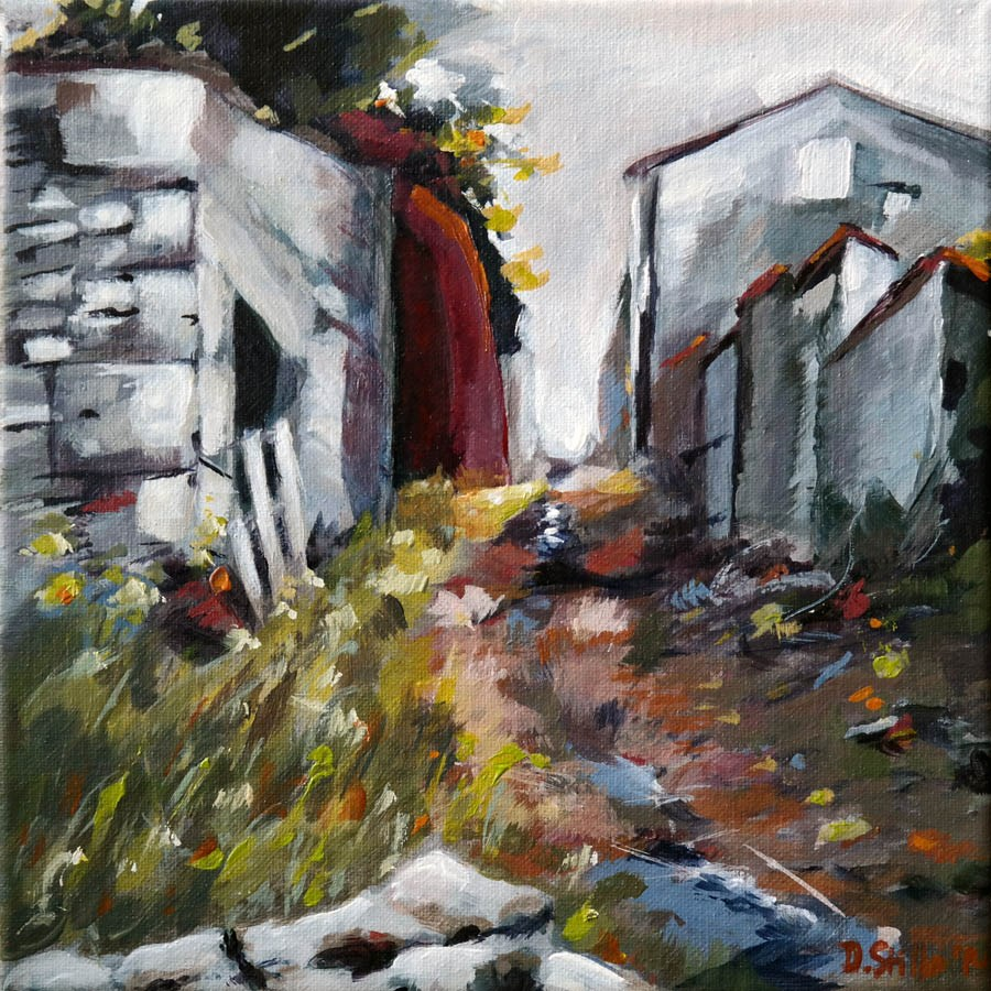 """0883 La Gasse"" original fine art by Dietmar Stiller"
