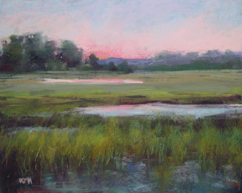 """Painting the LowCountry Marshes"" original fine art by Karen Margulis"