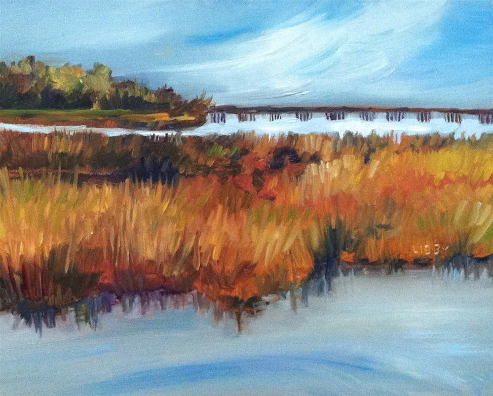 """""""Enroute to the Gulf"""" original fine art by Libby Anderson"""