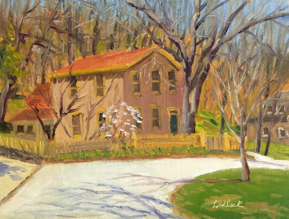"""Elsah Home en plein air"" original fine art by Daniel Fishback"