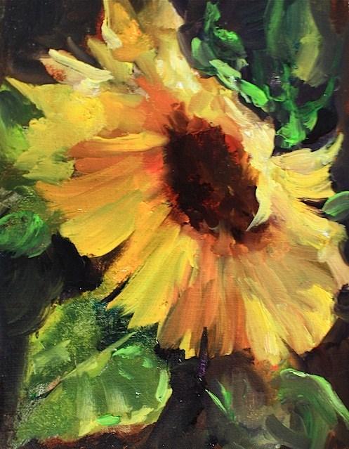 """Spotlight Sunflower - Nancy Medina Art"" original fine art by Nancy Medina"