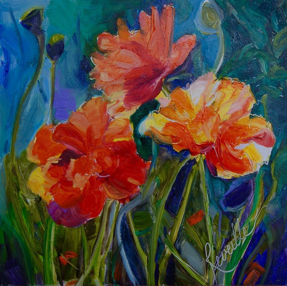 """""""Brightest Poppies"""" original fine art by Reveille Kennedy"""