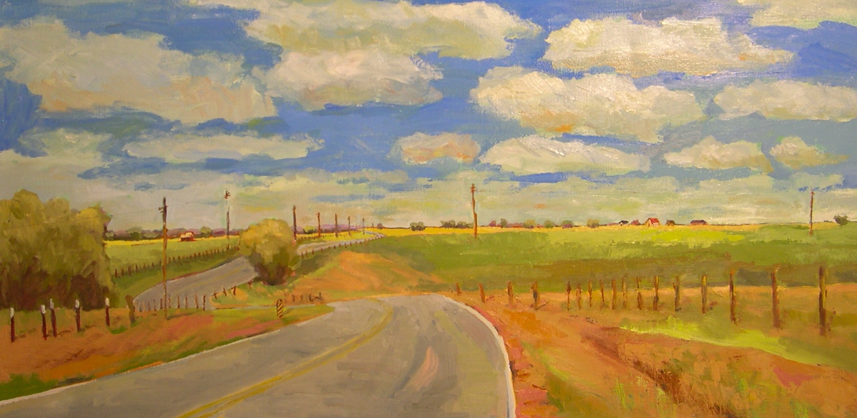 """""""Country Road"""" original fine art by Donna Walker"""