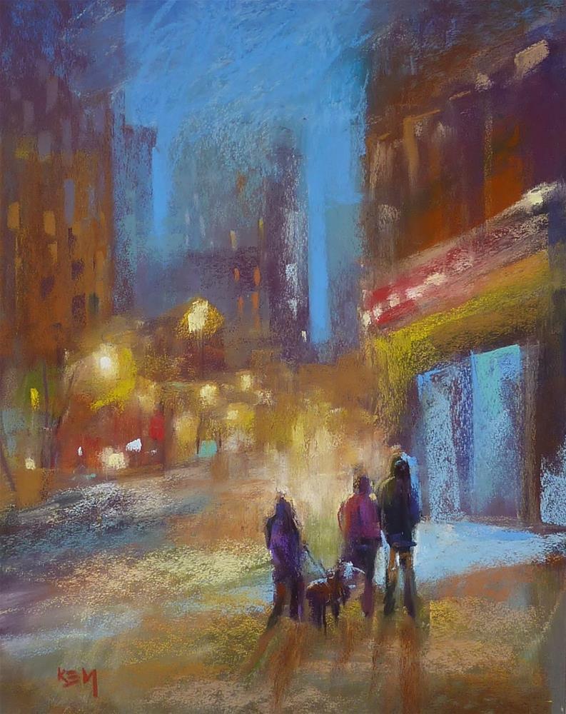 """Trying an Aggressive Pastel Surface"" original fine art by Karen Margulis"