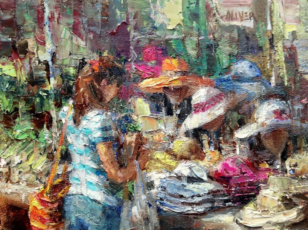 """""""Farmers Market #9"""" original fine art by Julie Ford Oliver"""
