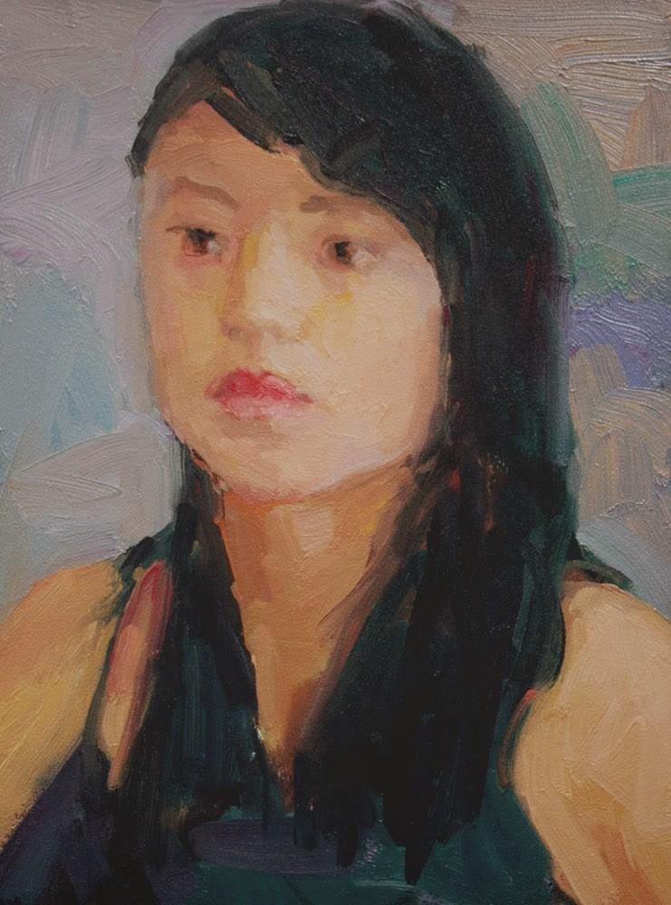 """Chinese Girl"" original fine art by Kathryn Townsend"