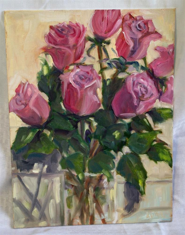"""Roses"" original fine art by Maggie Flatley"