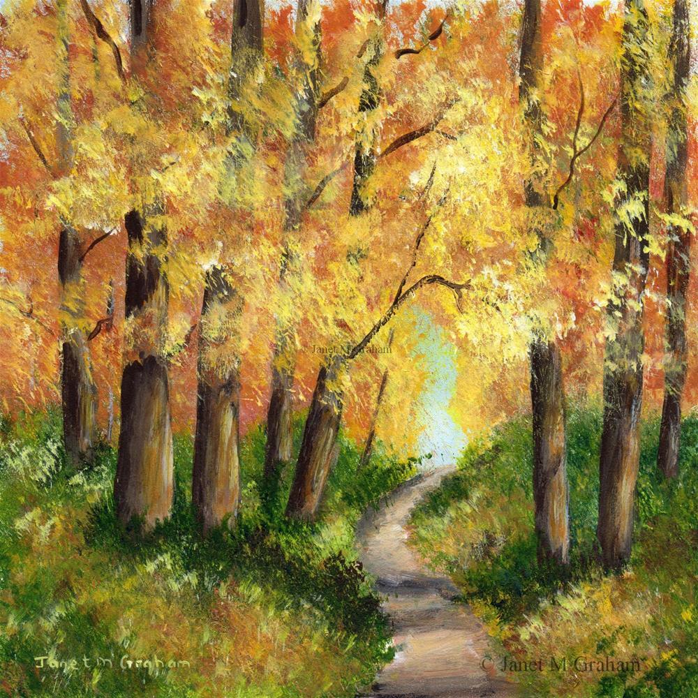 """Autumn Forest"" original fine art by Janet Graham"